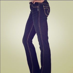 "Silver Jeans Frances 18"" Denim."